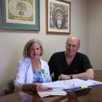Dr. Davis and Janice Orem of the Dermatology Clinical Research Center of San Antonio
