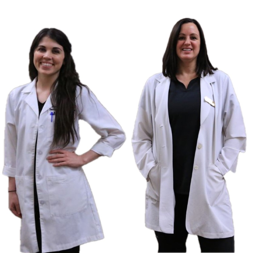 Loren and Stephanie, The PAs at the Dermatology and Laser Center of San Antonio